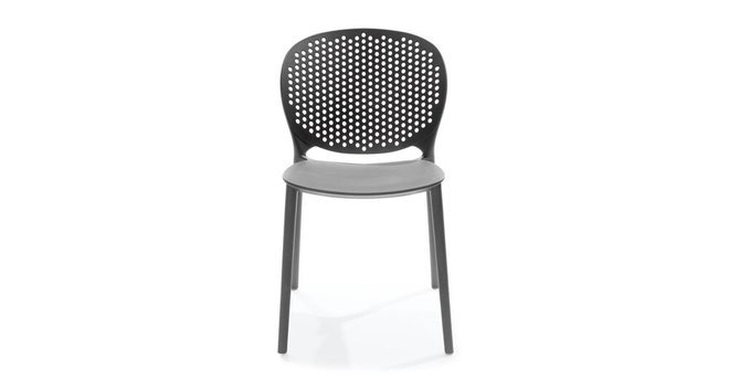 Article Dot Contemporary Outdoor Dining Chair Graphite (Set of 2)