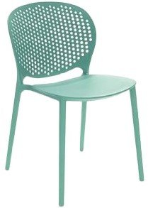 Article Dot Contemporary Outdoor Dining Chair Malibu Aqua (Set of 2)