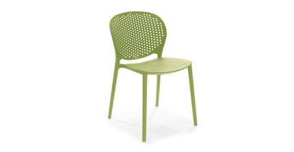 Article Dot Contemporary Outdoor Dining Chair Citrus Green (Set of 2)