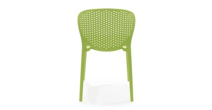 Dot Contemporary Outdoor Dining Chair Citrus Green (Set of 2)