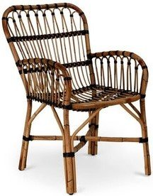 Article Malou Mid-Century Modern Outdoor Chair Brown (Set Of 2)