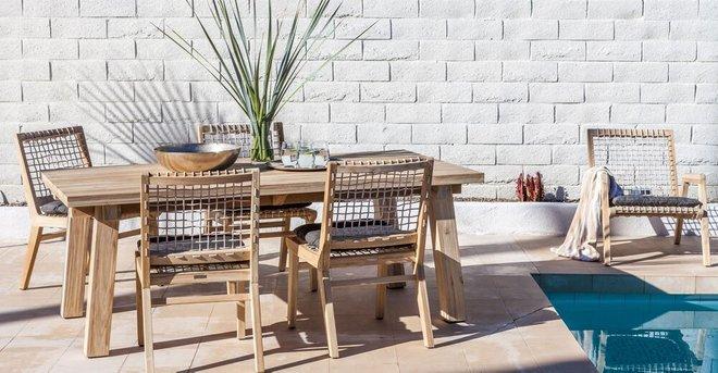 Teaka Dining Table For 6 Natural Teak