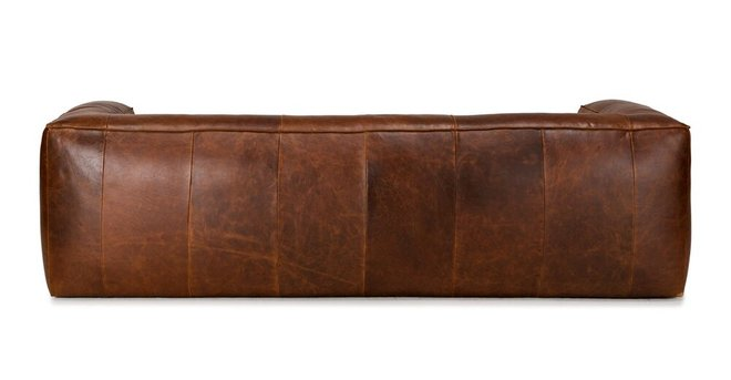 Cigar Contemporary Leather Sofa Brown