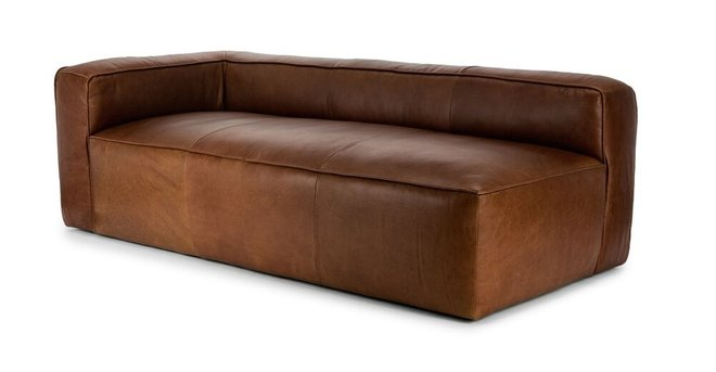 Mello Contemporary Leather Sofa Taos Brown in NY : Sectional Sofas ...