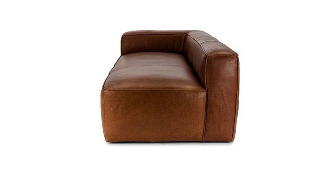 Mello Contemporary Leather Sofa Taos Brown