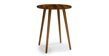 Seno Modern Round Bar Table Walnut