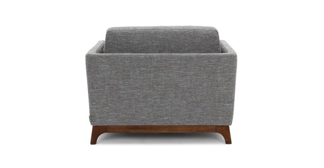 Ceni Mid-Century Modern Lounge Chair Volcanic Gray