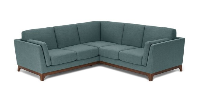 Ceni Corner Sectional Aquarius Aqua