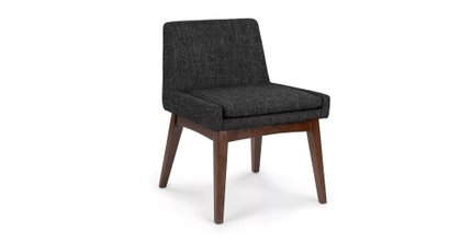 Chanel Modern Low Back Dining Chair Licorice  (Set Of 2)