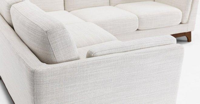 Ceni Corner Sectional Fresh White