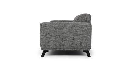 Volu Mid-Century Modern Fabric Sofa Cream