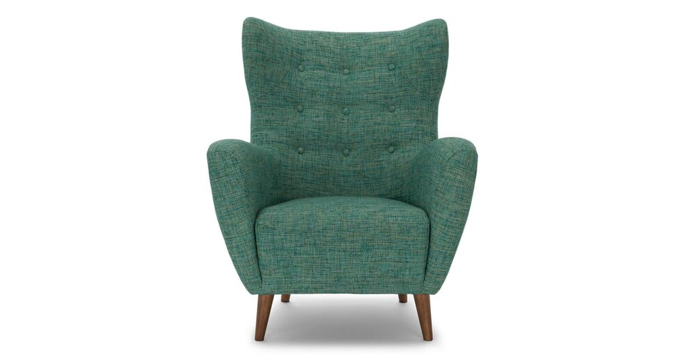 Incredible Mod Mid Century Modern Armchair Aqua Ocoug Best Dining Table And Chair Ideas Images Ocougorg