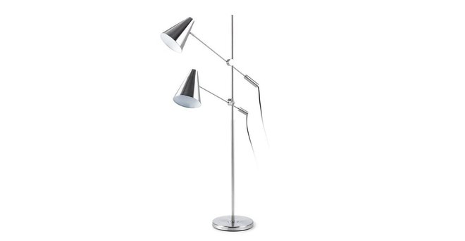 Beam Double Floor Lamp Nickel