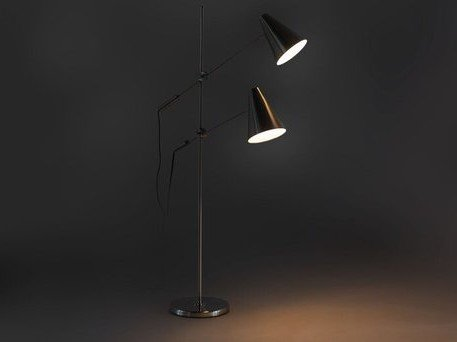 Article Beam Double Floor Lamp Nickel