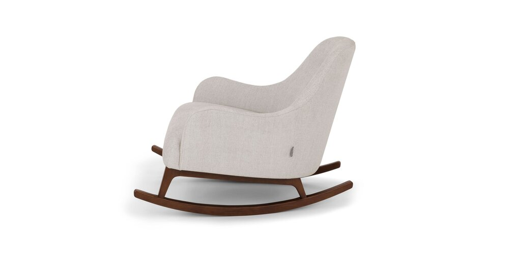 Gentil Embrace Fabric Rocking Chair Coconut White
