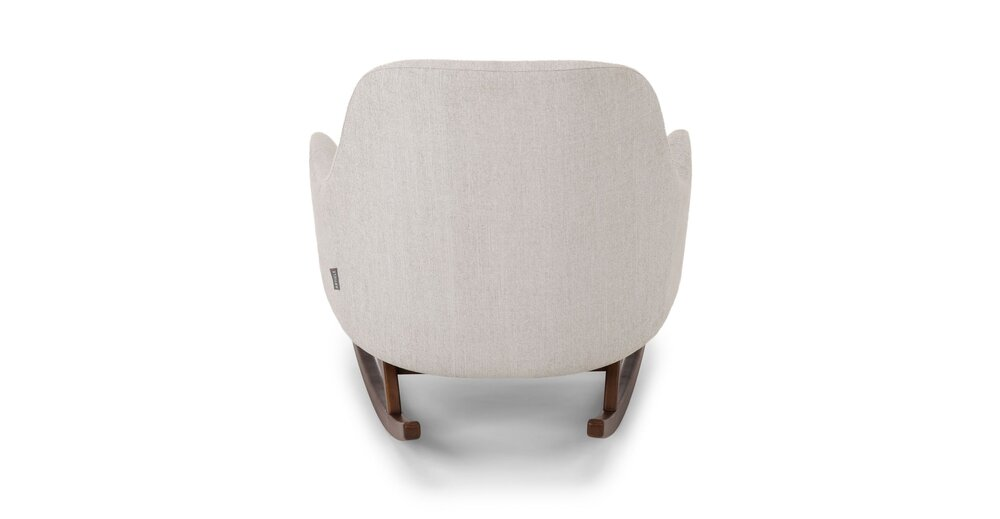 Embrace Fabric Rocking Chair Coconut White