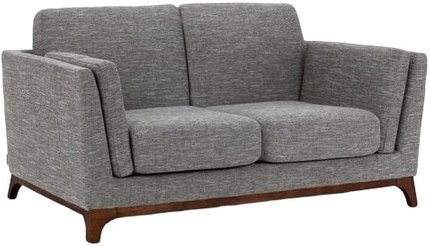 Article Ceni Mid-Century Modern Fabric Loveseat Volcanic Gray