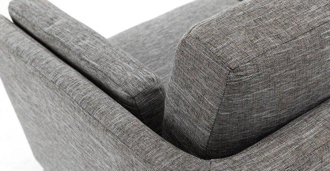 Ceni Mid-Century Modern Fabric Loveseat Volcanic Gray