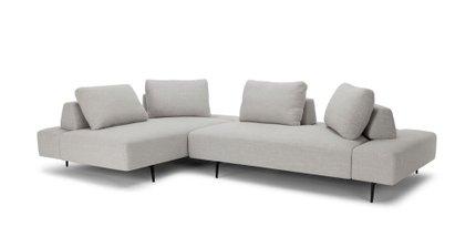 Divan Modern Contemporary Sectional Sofa Gray