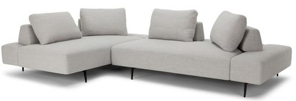 Article Divan Modern Contemporary Sectional Sofa Mist Gray