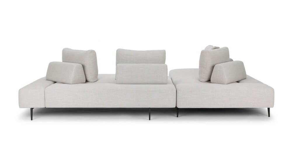 Divan Modern Contemporary Sectional Sofa Gray in SF ...
