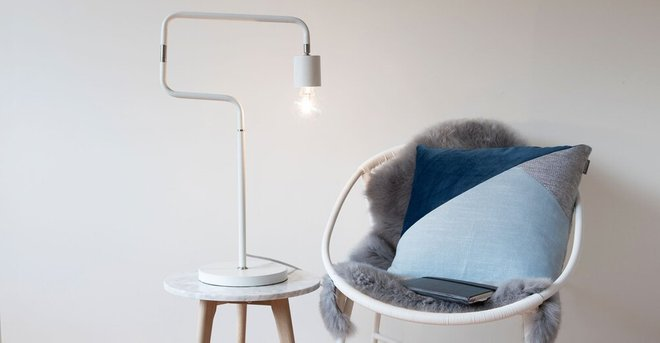 Article Serpent Table Lamp White