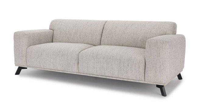 Volu Mid-Century Modern Fabric Sofa Vanilla Cream