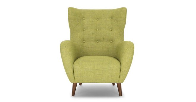 Article Mod Mid-Century Modern Armchair Kiwi Green