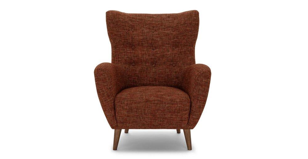 Brilliant Mod Mid Century Modern Armchair Orange Ocoug Best Dining Table And Chair Ideas Images Ocougorg