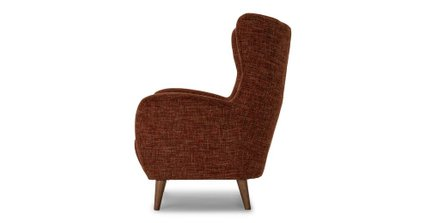Mod Mid-Century Modern Armchair Orange