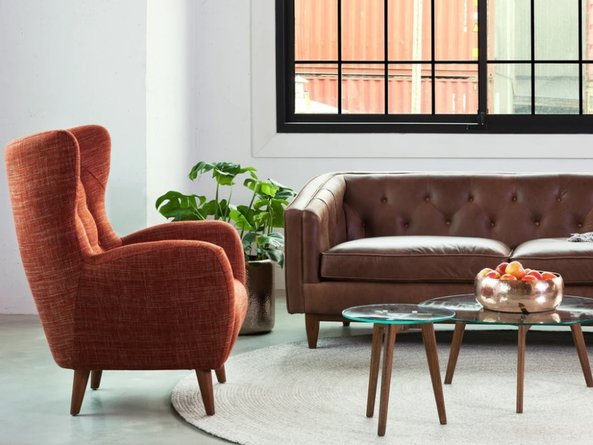 Article Mod Mid-Century Modern Armchair Orange