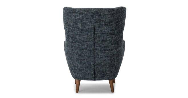 Mod Mid-Century Modern Armchair Blue Berry