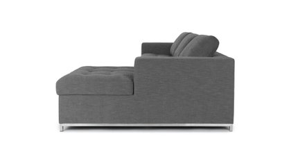 Soma Mid-Century Modern Fabric Right Sleeper Sectional Twilight Gray