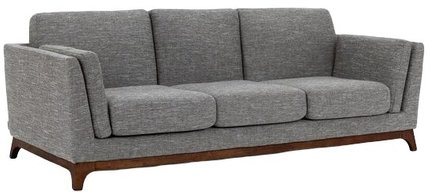 Article Ceni Mid-Century Modern Fabric Sofa Volcanic Gray
