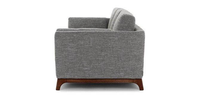 Ceni Mid-Century Modern Fabric Sofa Gray