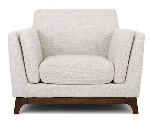 Article Ceni Mid-Century Modern Lounge Chair Fresh White