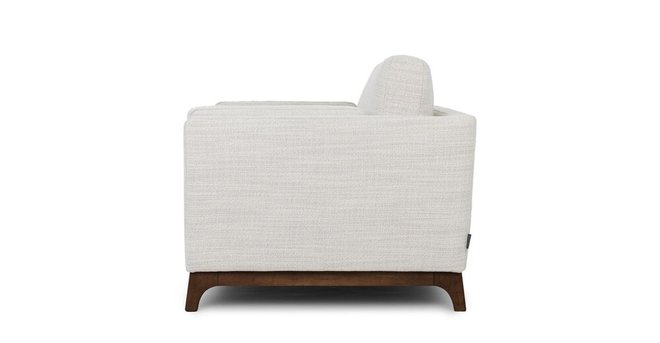 Ceni Mid-Century Modern Lounge Chair Fresh White