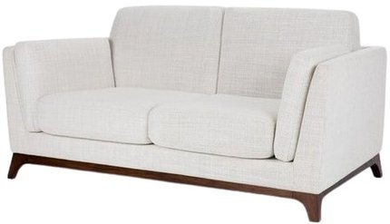 Article Ceni Mid-Century Modern Fabric Loveseat Fresh White