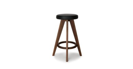 Article Circo Mid Century Modern Counter Stool Black