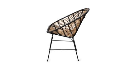 Luna Outdoor Lounge Chair Black (Set of 2)