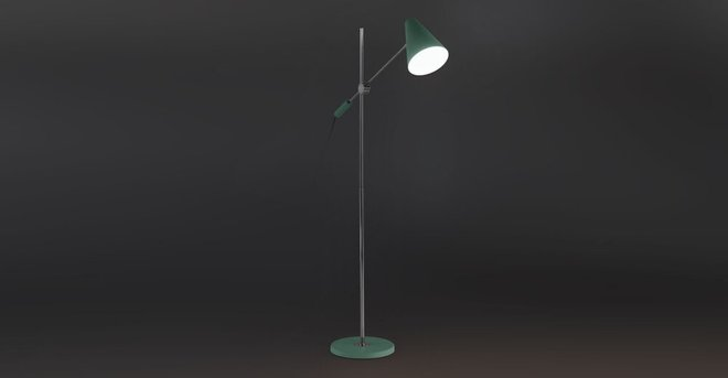 Beam Single Floor Lamp Mint