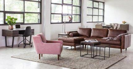 Beam Single Floor Lamp Pink