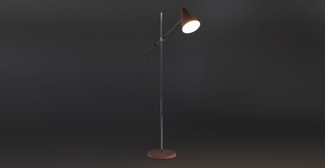 Beam Single Floor Lamp Pink