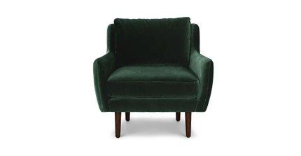 Matrix Modern Contemporary Velvet Chair Balsam Green