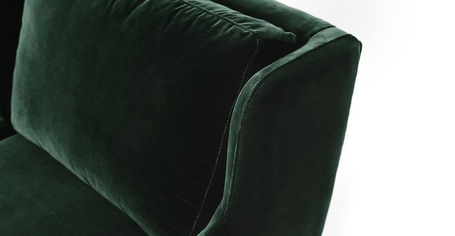 Matrix Modern Contemporary Velvet Chair Balsam Green
