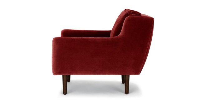 Matrix Modern Contemporary Velvet Chair Claret Red