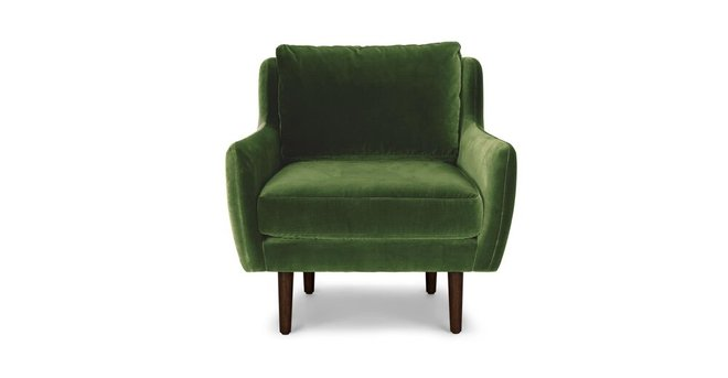 Matrix Modern Contemporary Velvet Chair Grass Green