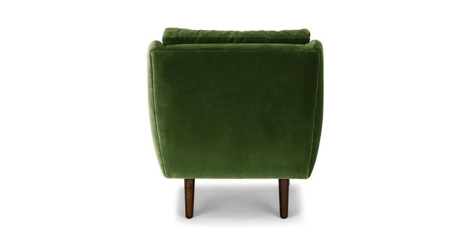 Article Matrix Modern Contemporary Velvet Chair Grass Green