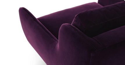 Matrix Modern Contemporary Velvet Chair Italian Plum