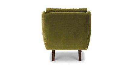 Matrix Modern Contemporary Velvet Chair Olive Green